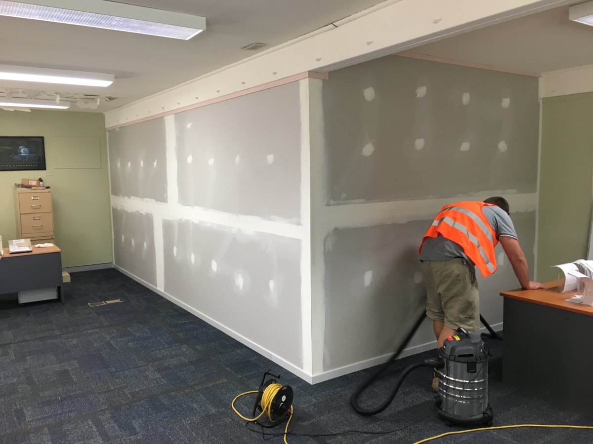 Office, Fit-out, Plastering, Gyprock, Wall,